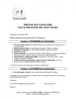 PROTOCOLE Sanitaire Salle des fêtes 05-09-20
